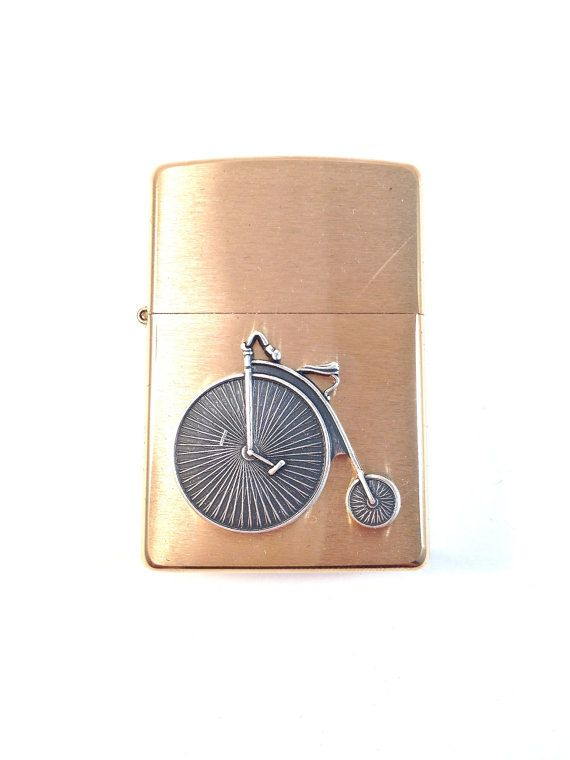 Silver Penny Farthing Bicycle Zippo Lighter by SQUAREPEGMEG