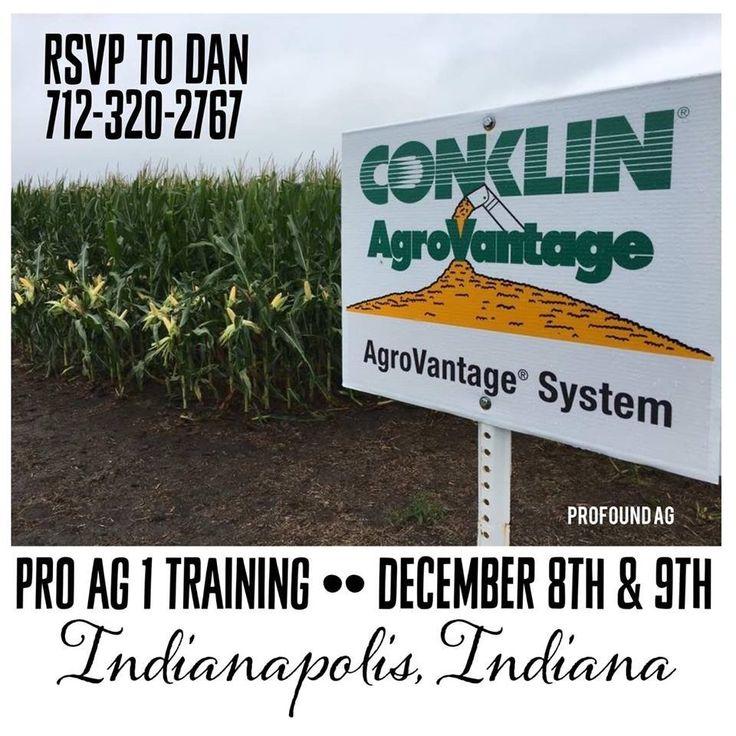 Indianapolis, Indiana Pro Ag coming up on Dec. 7th & 8th!   You'll learn how to: • Take the guesswork out of diagnosing your soil's nutrient requirements • Utilize a complete soil-testing program from an independent national lab • Decrease your nitrogen costs by up to 20% • Learn about the e iciencies of row-placed fertilizer • Understand the benefits of foliar feeding for your crops  Message us today to register!!