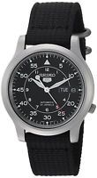 Seiko Men's SNK809 Seiko 5 Automatic Stainless Steel Watch with Black Canvas ...