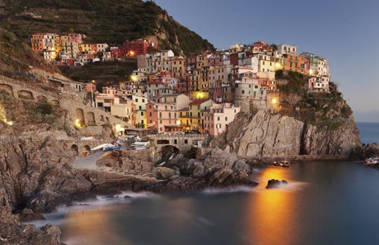 Manarola, one of five villages of Italy's Cinque Terre