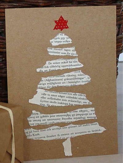 Card di Natale con ritagli e avanzi di carte (idee ed ispirazioni)