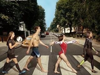 American invasion: Phelps and the gang strut Abbey Road: The Roads, Michael Phelps, Ali Raisman, Abbey Roads, Teamusa, Jordyn Wieber, Mckayla Maroney, Abbeyroad, Team Usa