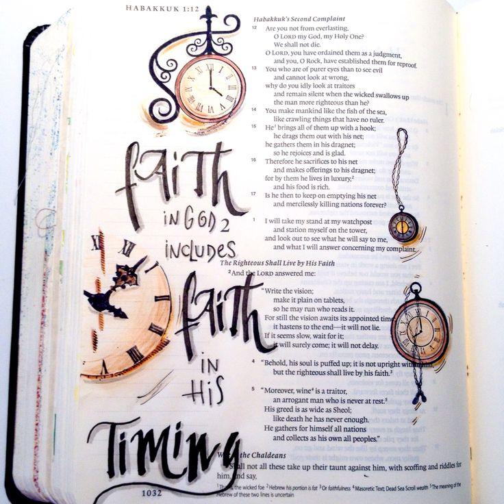 Habakkuk 2 by Rebecca Sawatsky.   Webside: BibelArtjournaling.de Facebook: Bible art journaling Canada