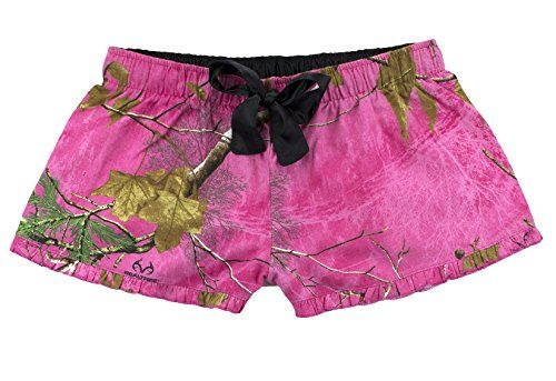 boxercraft Fuschia Real Tree Camouflage Novelty Print Flannel VIP Shorts Adult Sizes