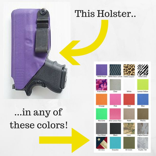 The perfect combination of function and flair!  Inside the waistband holster! http://thewellarmedwoman.com/holsters/in-the-waistband-by-twaw