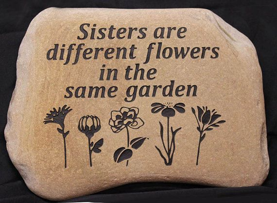 Hand Engraved Rock  Custom Garden Stones by GaleStreetStudio
