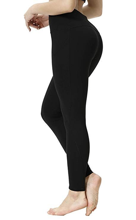 22e0136b2c6b5 Amazon.com: SILKWORLD High Waist Yoga Pants Slim Fit 4-Way Stretch Workout  Leggings with Pockets: Clothing