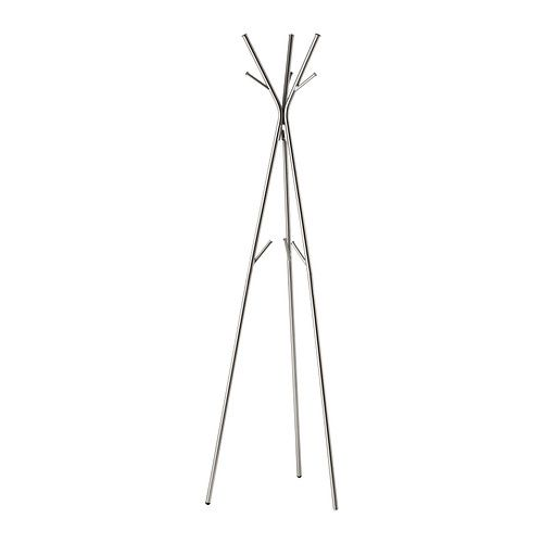 KNIPPE Hat and coat stand IKEA - really small footprint (sorta, since you can put things under it)