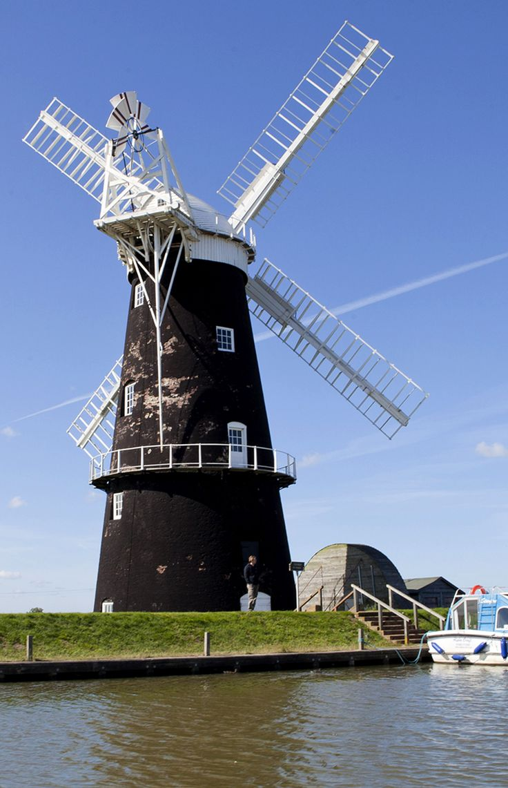 One of many windmills to be discovered on the Norfolk Broads UK