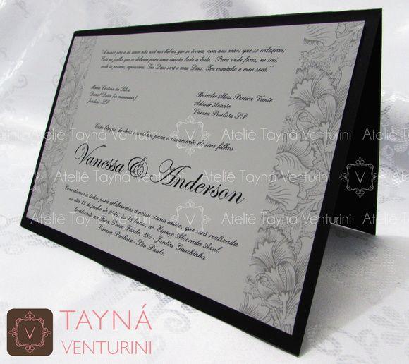 Convite de Casamento Luxo 03