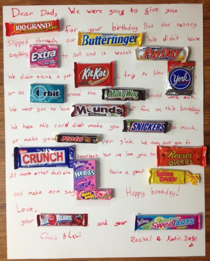 Chocolate Bar Card For Husband