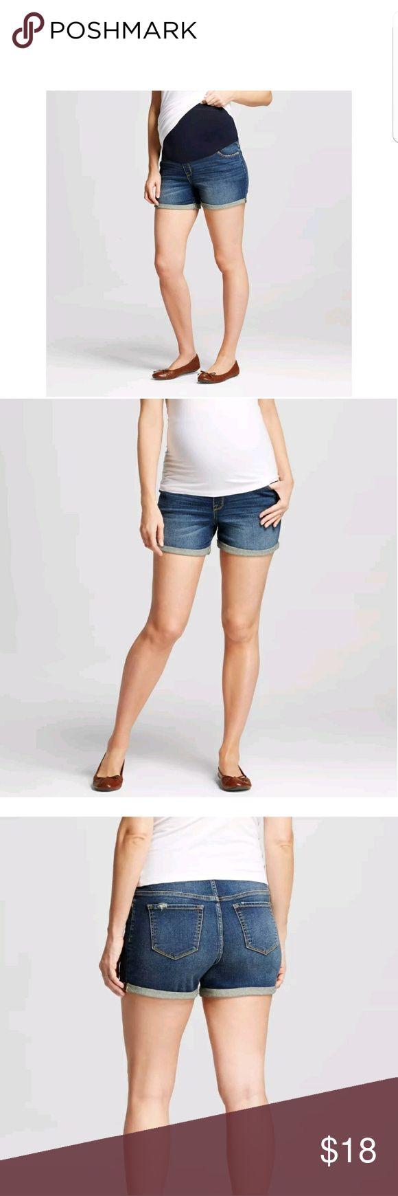 Liz Lange Target Maternity Jeans Shorts S Medium wash. Over the belly Liz Lange for Target Shorts Jean Shorts