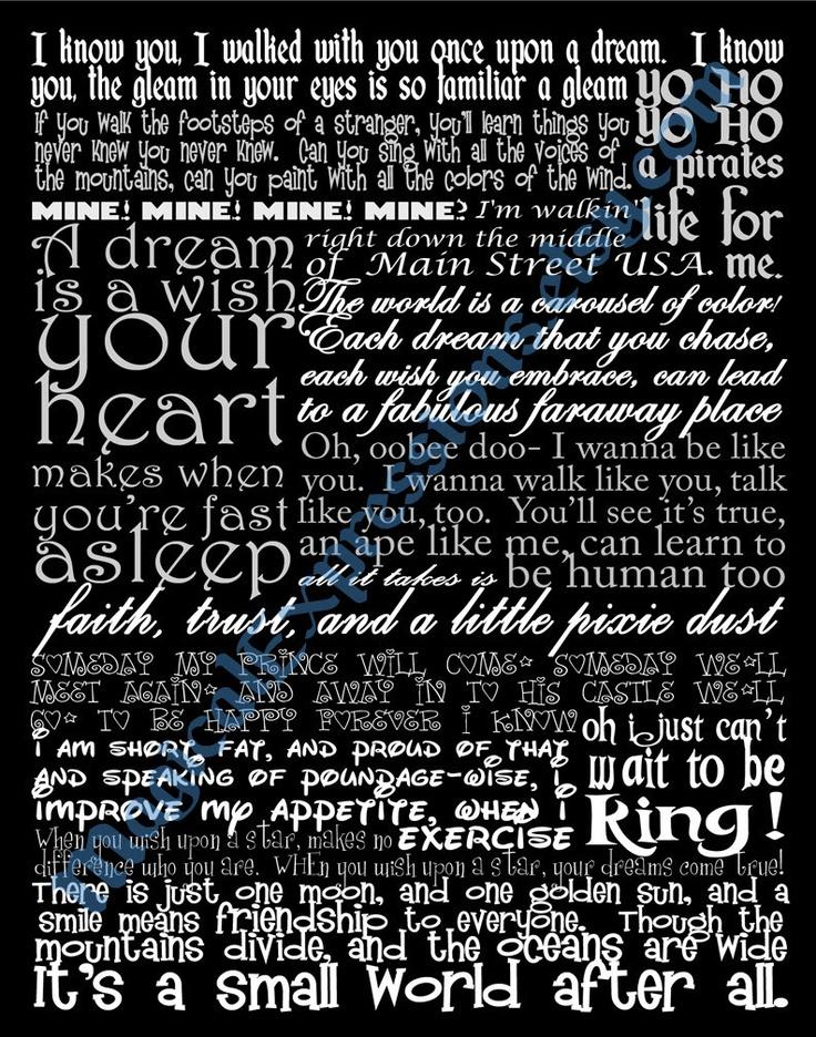 60 best Disney song lyrics images on Pinterest | Disney quotes ...