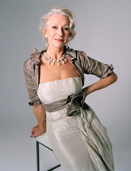 Helen Mirren - Drop Dead Gorgeous. May I be so lucky at 60+Summer Fashion, Summer Outfit, Silver Hair, Helen Mirren, Sophisticated Style, Dresses, Fashion Looks, Fashion Women, The Brides