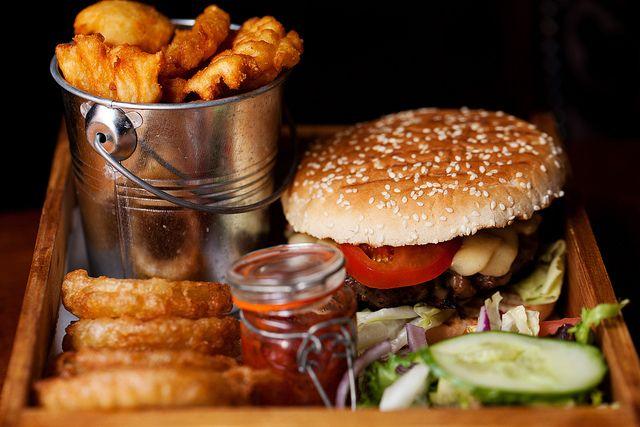 fancy hamburger | Eat + Drink | Pinterest