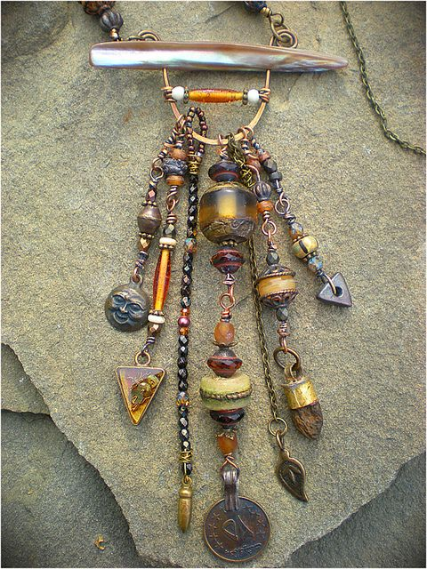 Amulet Jewelry Pendants Sothon: Tibetan Beeswax Amulet Necklace By Maggie Zee On Etsy