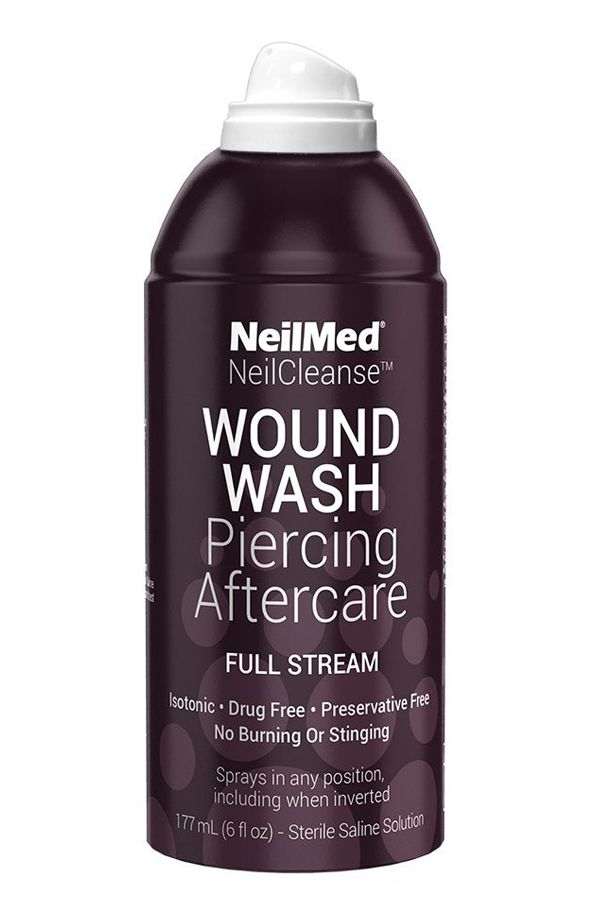 Effective Cleaning Solution For Piercings Neilmed Neilcleanse Wound Wash Piercing Aftercare Sterile Saline Spray Fu Piercing Aftercare Aftercare Saline Spray