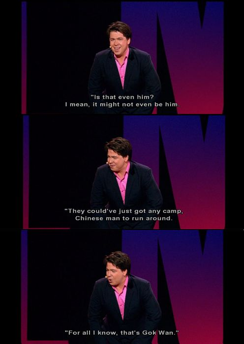 Michael McIntyre on people seeing him on stage.