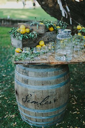 Rustic lemon themed wedding. Floral design by peonyandplum.com and photography by www.niravphotography.com
