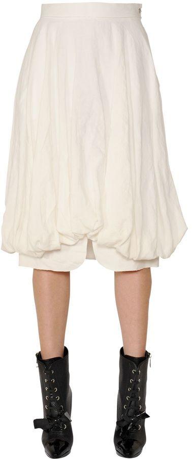 Loewe Balloon Linen Skirt
