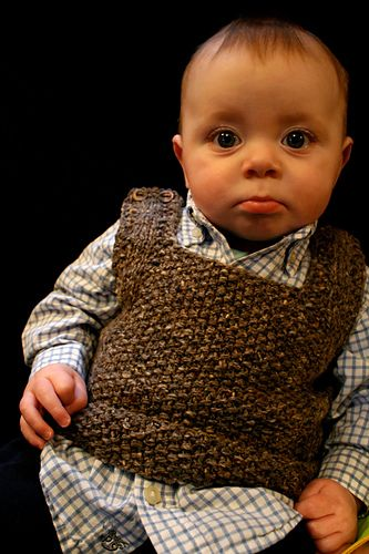 knitted baby vest.  Used this pattern... super cute!