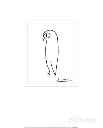 Ugle Plakat av Pablo Picasso hos AllPosters.no