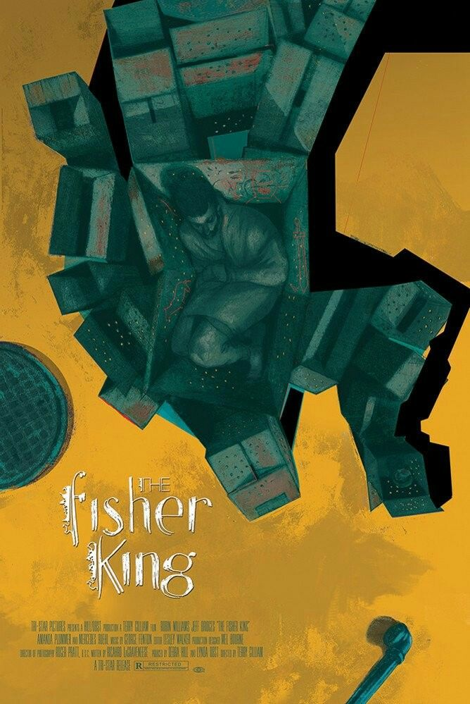Movie Posters - Mondo - The Fisher King by Sterling Hundley
