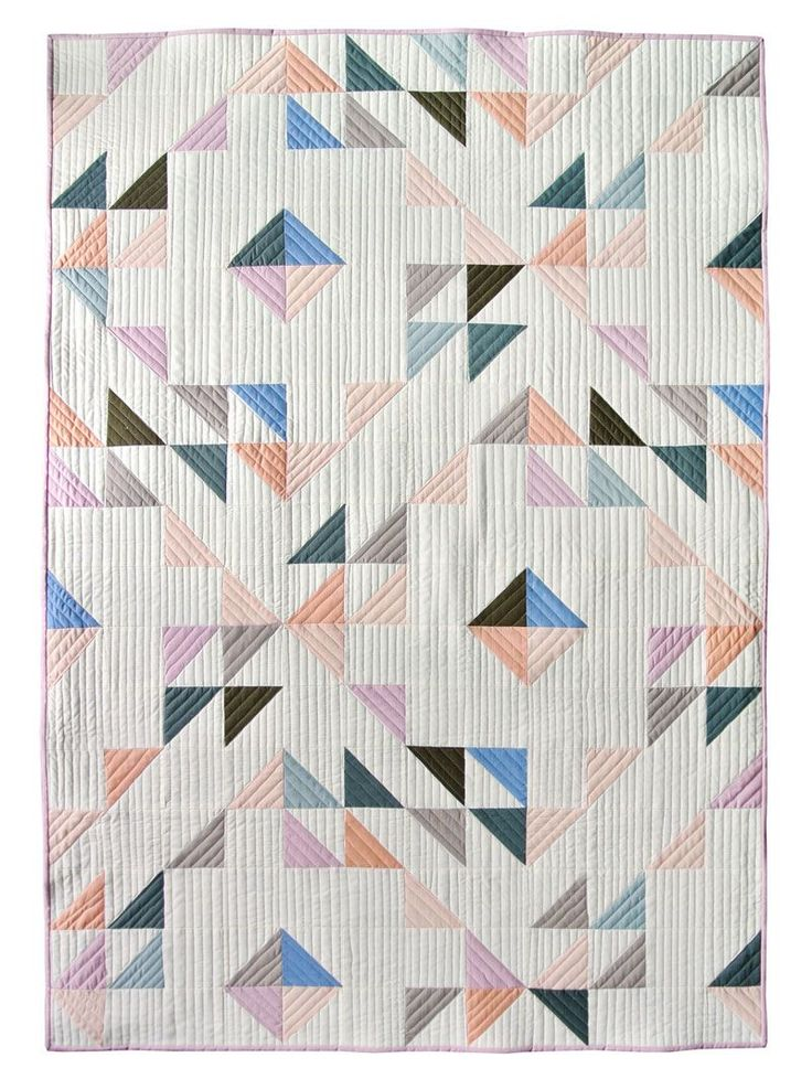 Indian Summer - half-square triangle quilt - free pattern