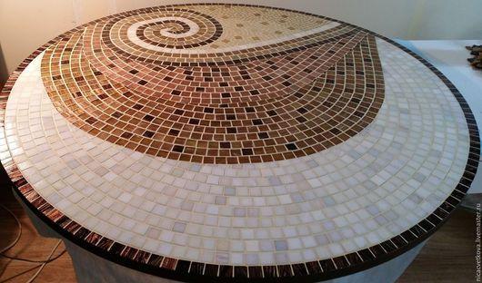 """Мебель ручной работы. Ярмарка Мастеров - ручная работа. Купить Стол обеденный """"Шоколадный микс"""", мозаика. Handmade. Комбинированный, мозаика"""