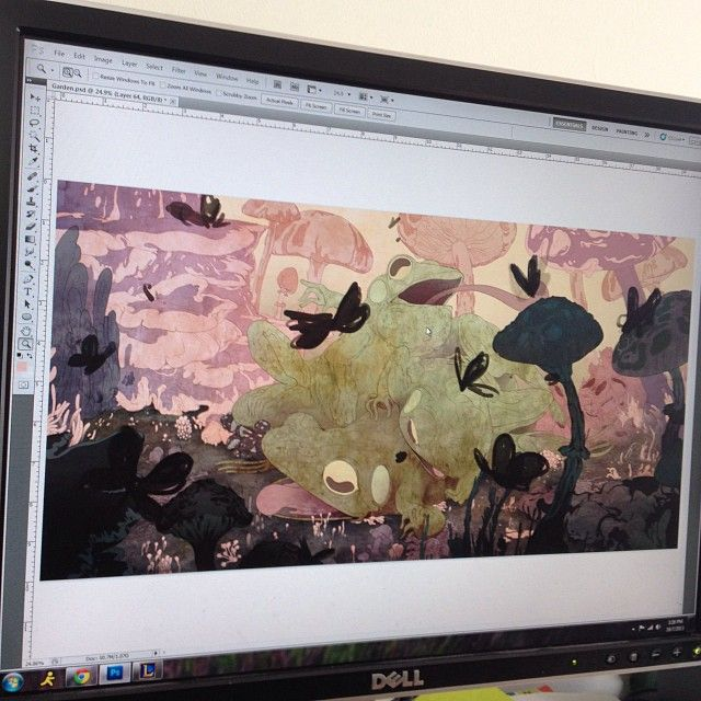 "Corinne Reid on Instagram: ""WIP…the colors! Tr…"