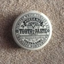 ANTIQUE TIMOTHY WHITE COMPANY OF PORTSMOUTH ARECA NUT TOOTH PASTE POT LID