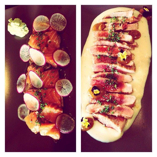 Sashimi de Salmón... Y para finalizar... 😁 Secreto Ibérico.😍Restaurante El Aliño. #food #secretoiberico #sashimi #delicious #hungry #foodgasm #spain #comida #like #adoro #amo #jadore