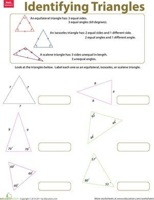math worksheet : 7 best geometry images on pinterest  geometry worksheets  : 5th Grade Triangle Geometry Worksheets