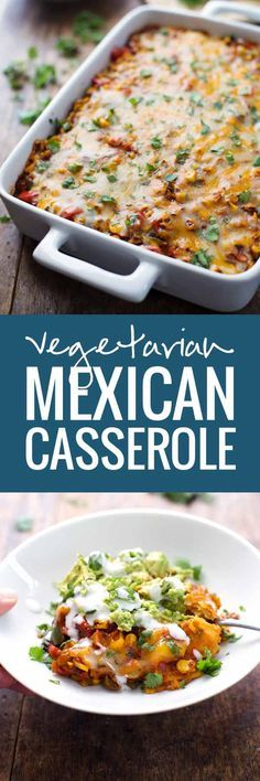 Healthy Mexican Casserole with Roasted Corn and Peppers - A delicious Mexican casserole loaded with cheese and vegetables | pinchofyum.com