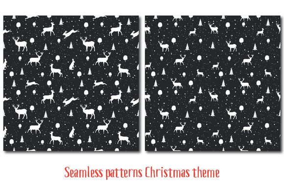 Seamless Christmas pattern by Orangepencil on @creativemarket