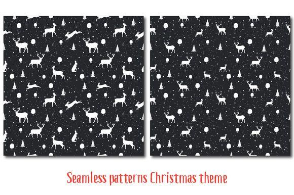 Seamless Christmas pattern by Orangepencil on @creativemarket