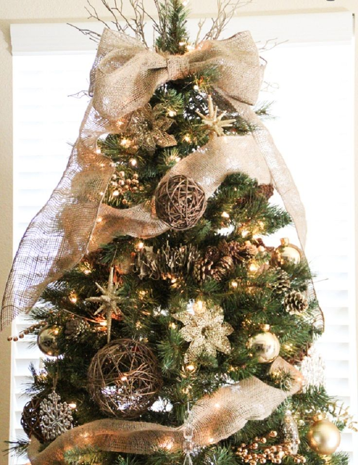 top 10 rustic diy burlap projects for christmas christmas trees pinterest christmas christmas decorations and christmas tree toppers