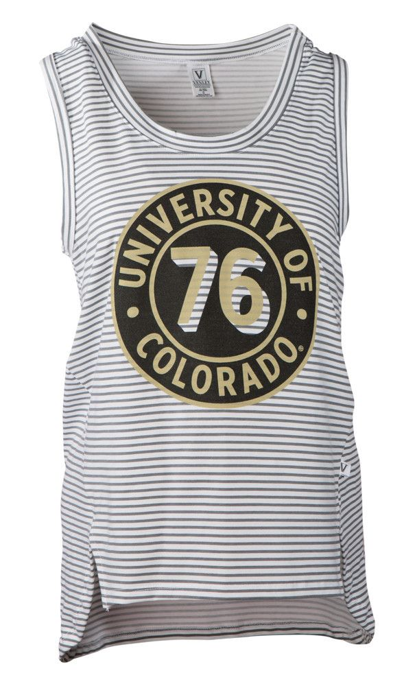NCAA- Colorado Buffalos- Dior - Womens Stripe Tank Top