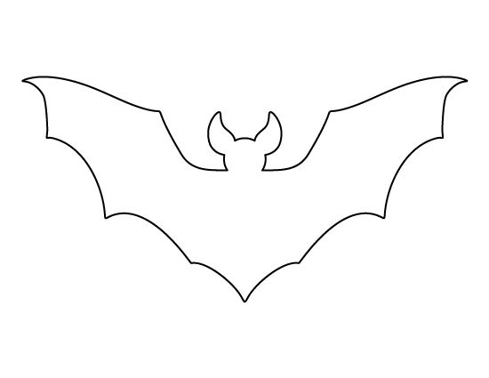 Printable full page bat pattern. Use the pattern for crafts, creating stencils, scrapbooking, and more. Free PDF template to download and print at http://patternuniverse.com/download/large-bat-pattern/.