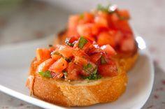 トマトのブルスケッタ【E・レシピ】料理のプロが作る簡単レシピ/2007.08.27公開のレシピです。