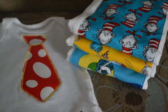 Baby Boy Gifts On Pinterest : Dr suess baby boy gift set onesie and by