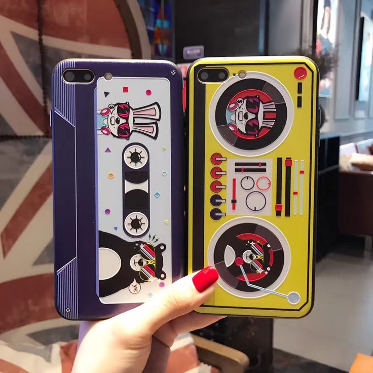 NECONO Music Magnetic Tape Phone Case For iphone 8 7 7plus 6 6s plus Retro Style 3D Relief  Rabbit Bear Printed Back Cover Case. Yesterday's price: US $4.56 (3.74 EUR). Today's price: US $2.83 (2.35 EUR). Discount: 38%.