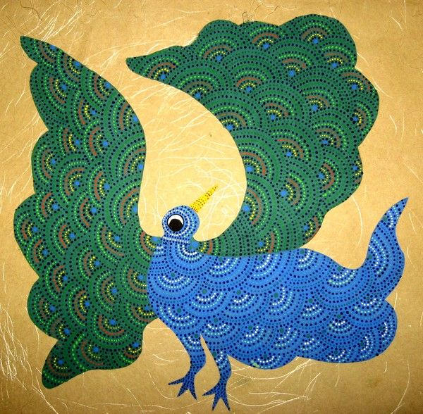 gond painting technique - Google Search