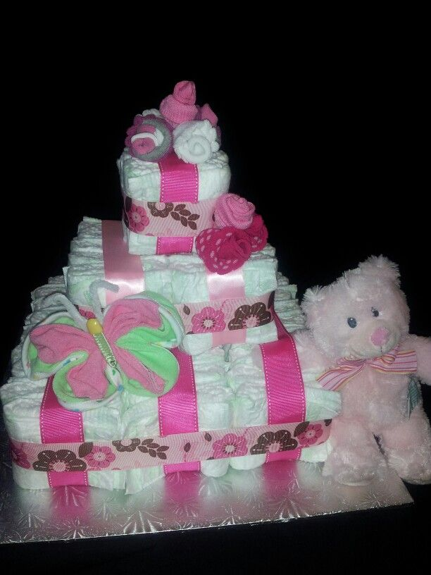 71 Best Images About Square Diaper Cakes On Pinterest
