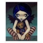 Vudú en la impresión de hadas gótica azul del arte impresiones