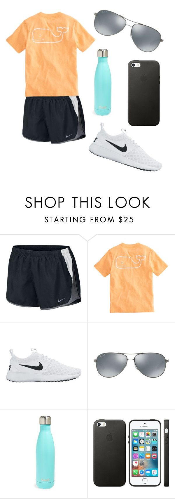 """cute sporty look"" by fashionblogger2122 on Polyvore featuring NIKE, Vineyard Vines, Ray-Ban and S'well"