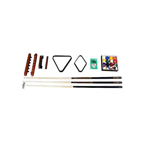 Diplomat Pool Table Play Kit. Two 2 Piece Cues, A Quality Billiard Ball
