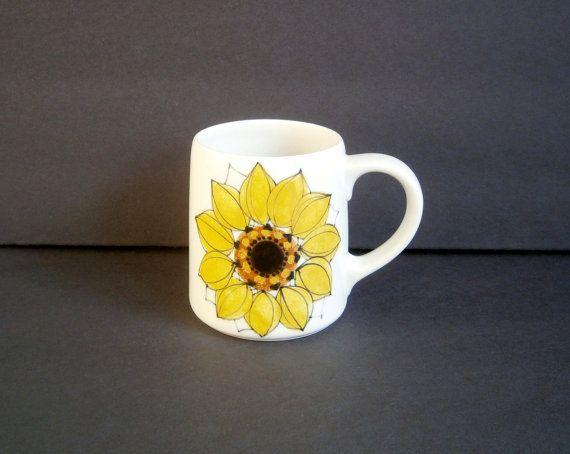 Arabia Finland Sunflower Mug Hikka Liisa Ahola