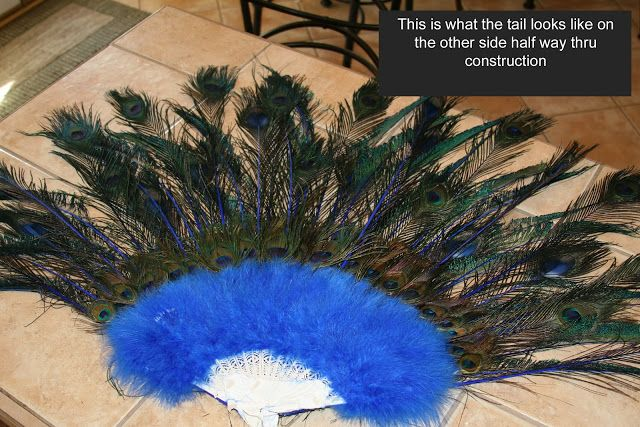 Great construction ideas for peacock tail.
