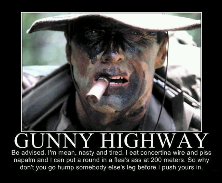 CLINT EASTWOOD, Gunny Highway - Heartbreak Ridge